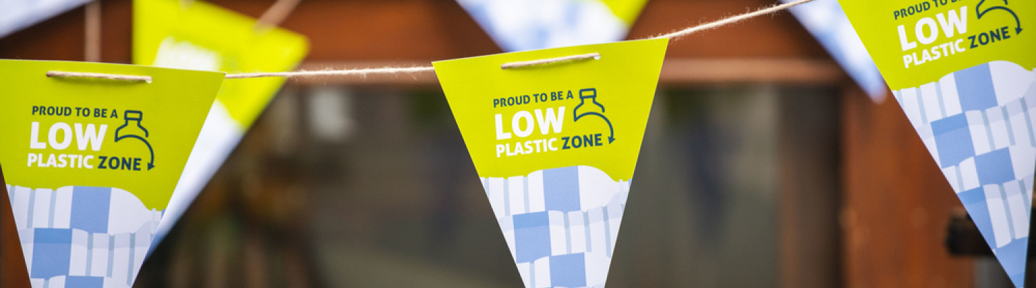 Low Plastic Zones bunting hung up