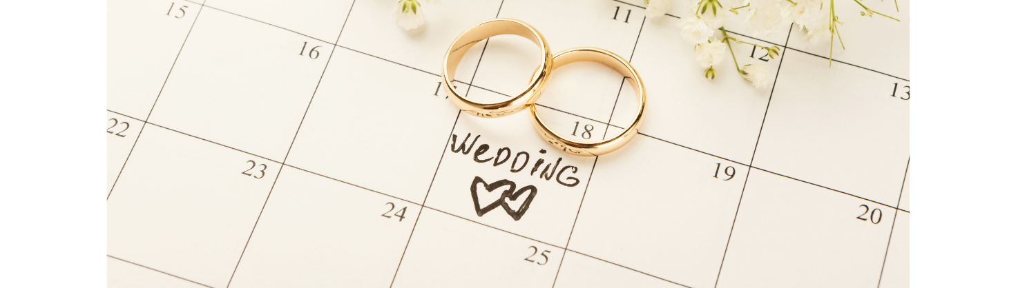 wedding day in the calendar