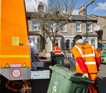 Recycling from north London households