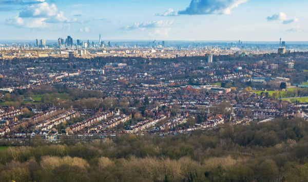 View of North London