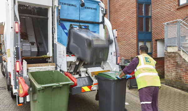 Recycling collection in Haringey